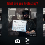 Share what you are protesting at the Rock N Roll Hall of Fame Museum
